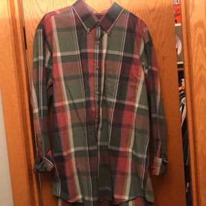 NWOT Lands End multi-colored button down